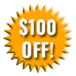 $100 off Badge