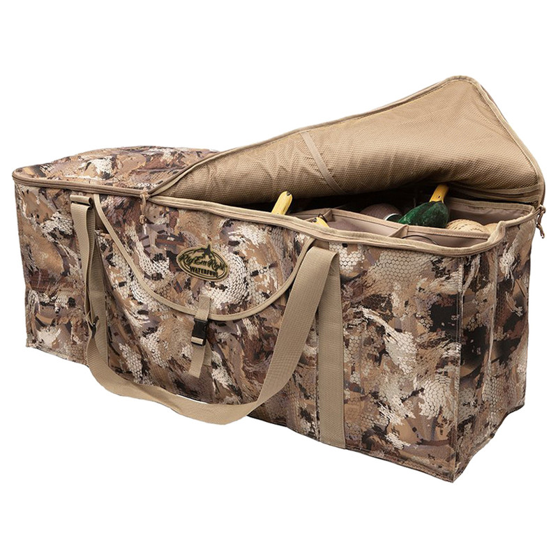Rig'Em Right Deluxe 12 Slot Duck Decoy Bag in Waterfowl Marsh Color
