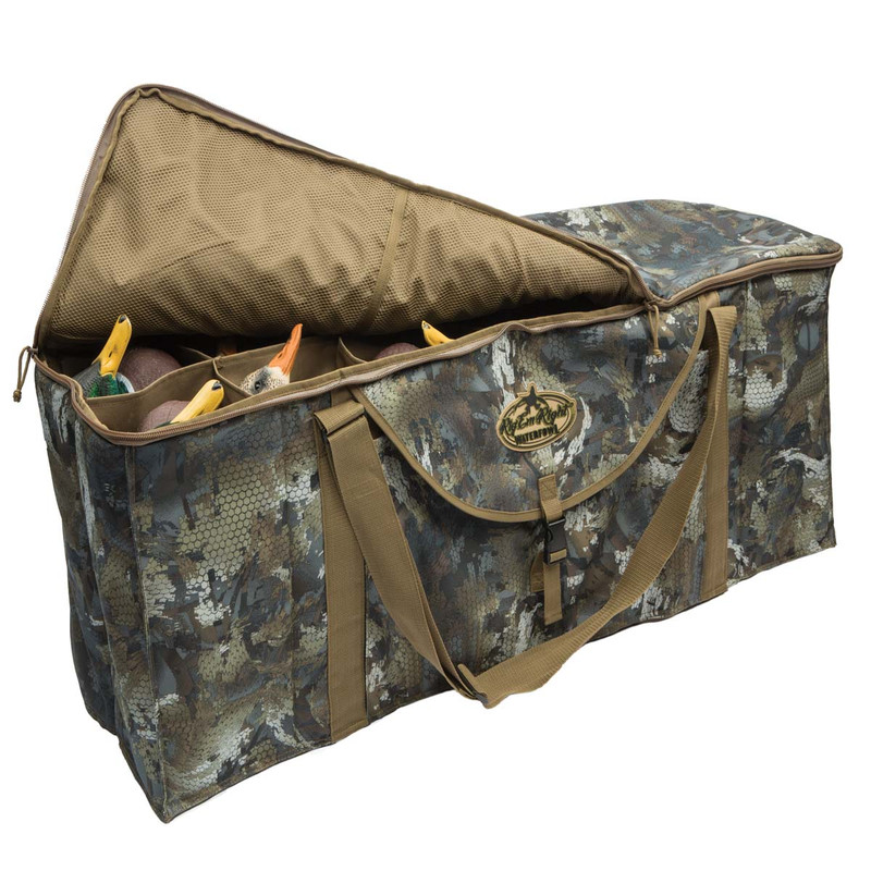 Rig'Em Right Deluxe 12 Slot Duck Decoy Bag in Waterfowl Timber Color