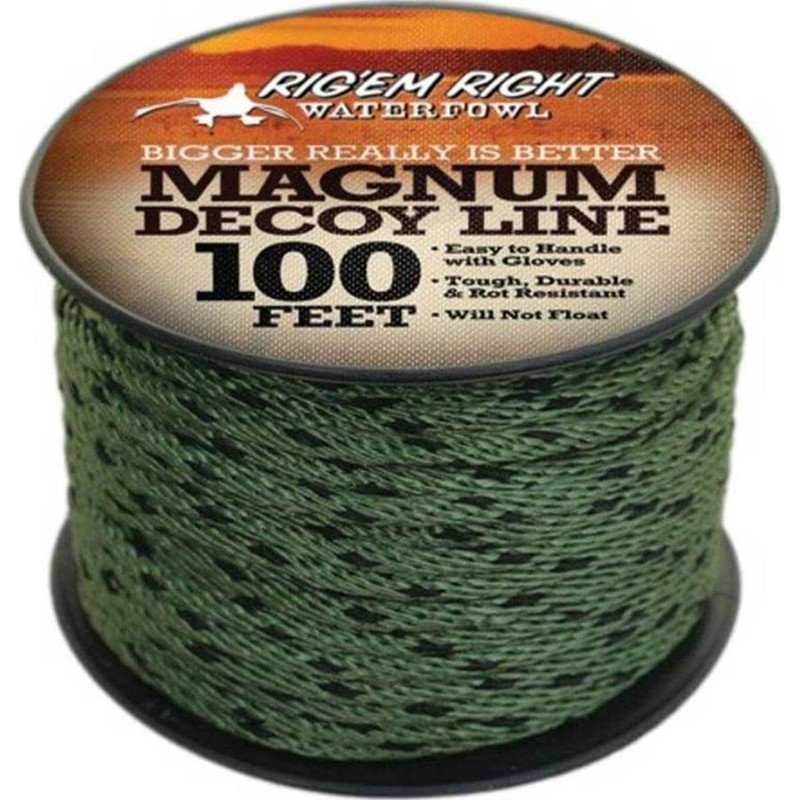 Rig 'Em Right Magnum Decoy Line in 100 FOOT ALL SIZES