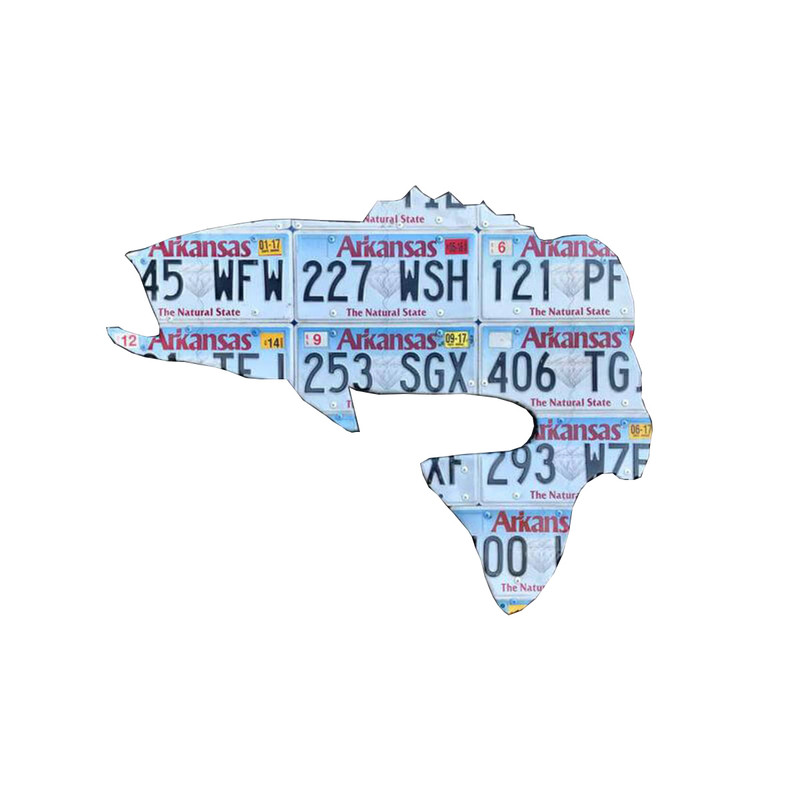 Arkansas License Plate in Fish Item Style