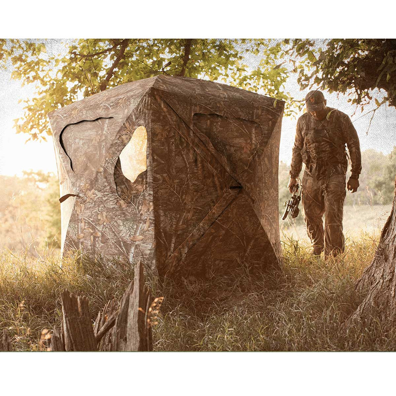 Ameristep Silent Brickhouse Ground Blind - Realtree Edge