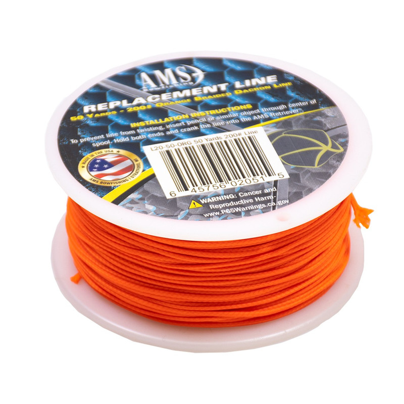 AMS Bowfishing Line - 25 Yards, 200# - Orange