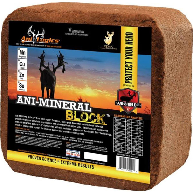 Ani-Logics Ani-Mineral Block Deer Supplement - 20LB
