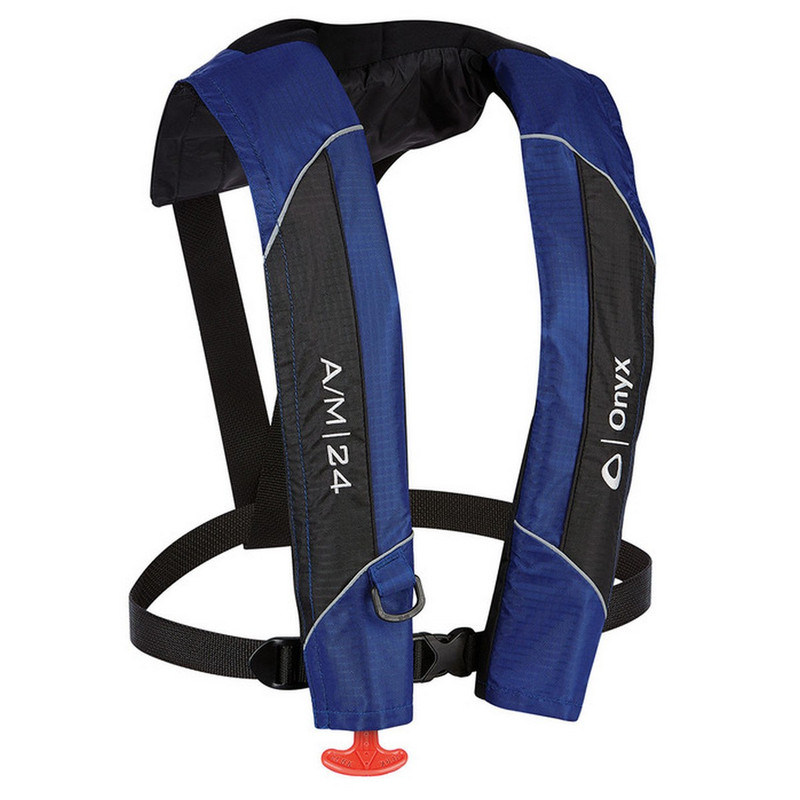 Onyx A/M-24 - Automatic / Manual Inflatable Life Jacket (PFD) Blue