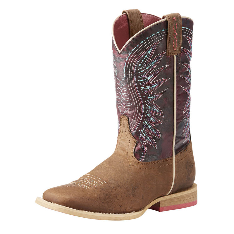 Ariat Youth Vaquera Boots - Weathered Brown