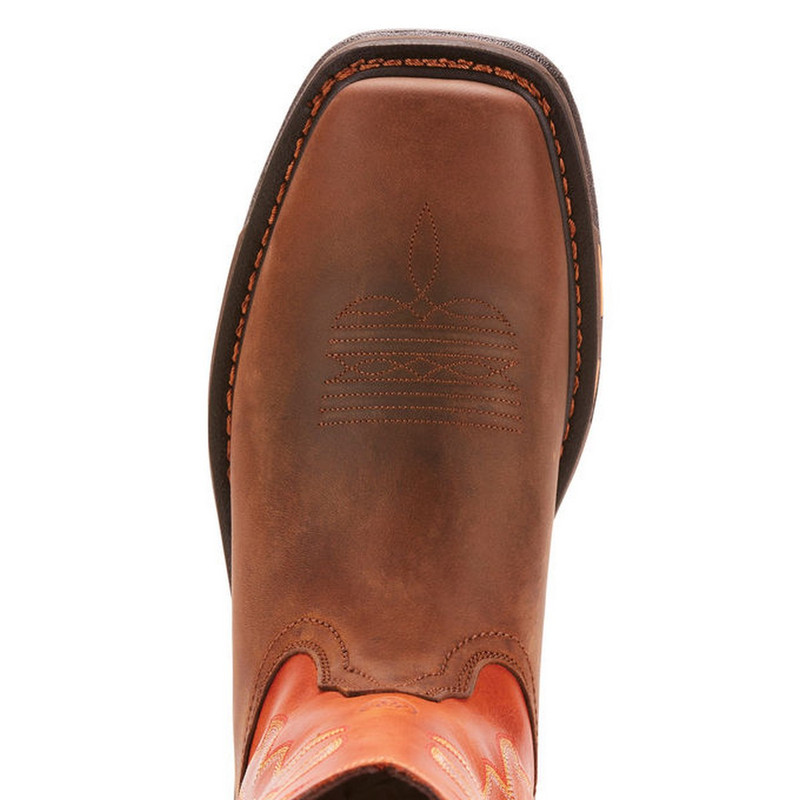 Ariat WorkHog Wide Square Toe Work Boot in Dark Earth Brick Color