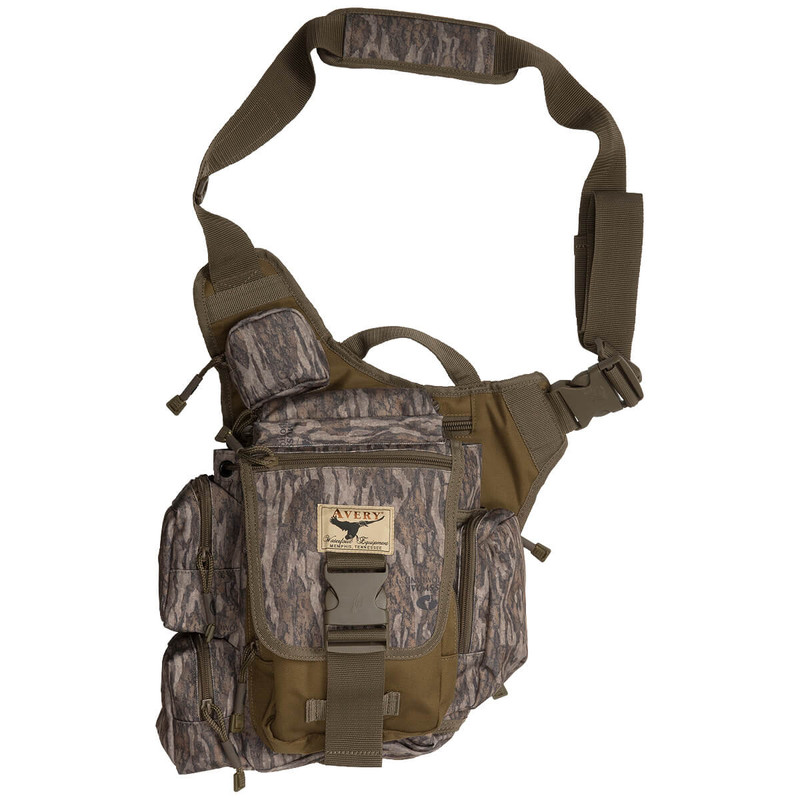Avery Messenger Hunting Bag in Mossy Oak Bottomland Color