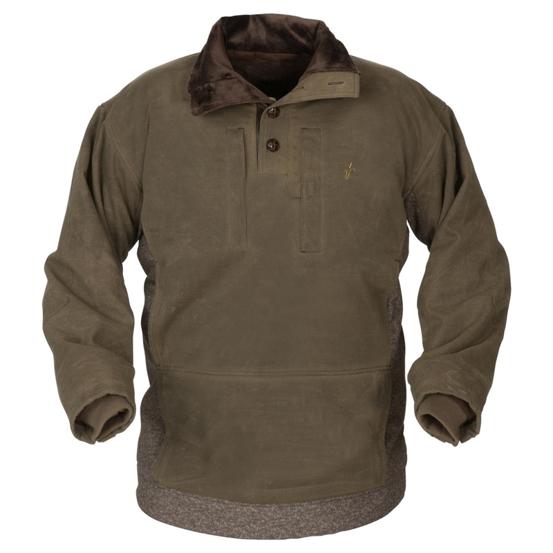 Avery Heritage Waterfowl Pullover Sweater in Marsh Brown Color