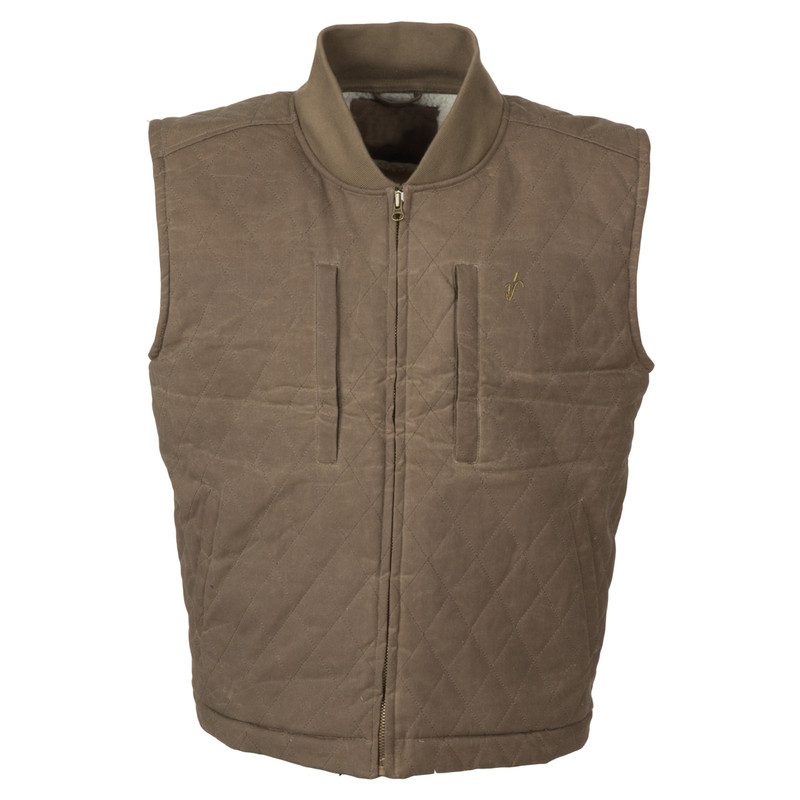 Avery Heritage Field Vest in Marsh Brown Color