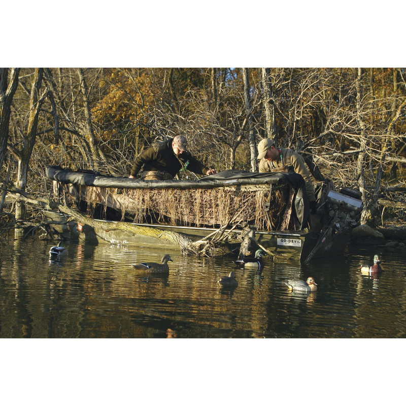 Avery Outdoors Quick-Set Duck Boat Blind Set - 14-16 Foot