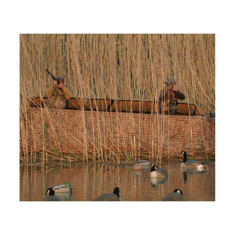Avery Outdoors Quick-Set Duck Boat Blind Set - 14-16 Foot in Killerweed Color