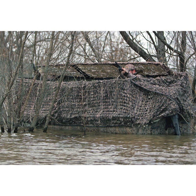 Avery Outdoors Quick-Set Duck Boat Blind Set - 14-16 Foot in Mossy Oak Bottomland Color