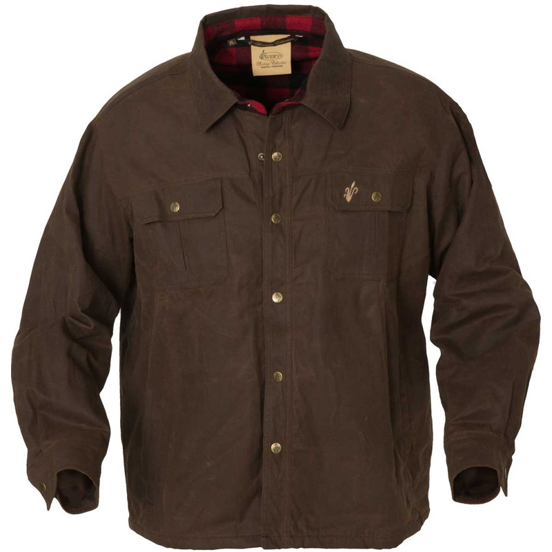 Avery Heritage Workmen Jac Shirt in Marsh Brown Color