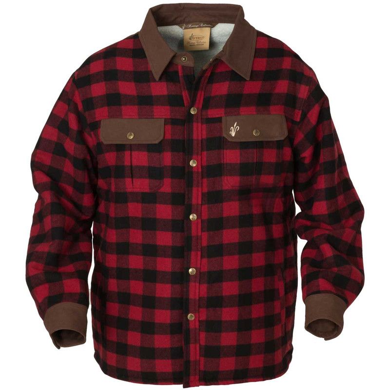Avery Heritage Workmen Jac Shirt in Red Black Plaid Color