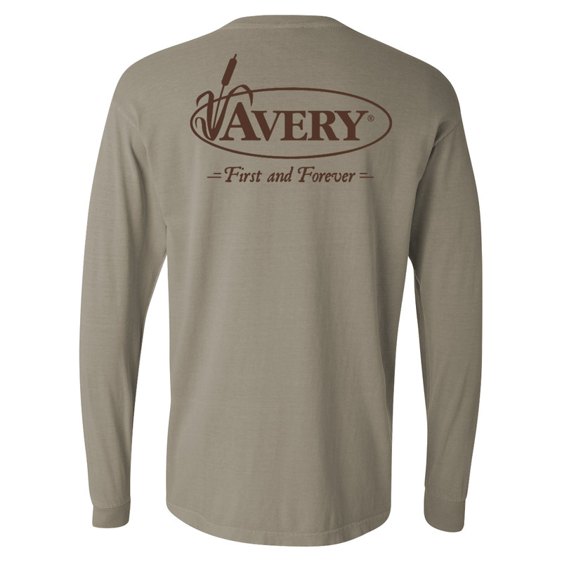 Avery Signature Long Sleeve T-Shirt in Iron Grey Color