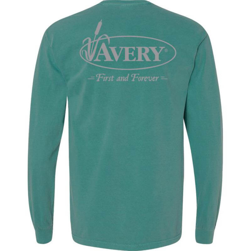 Avery Signature Long Sleeve T-Shirt in Seafoam Color