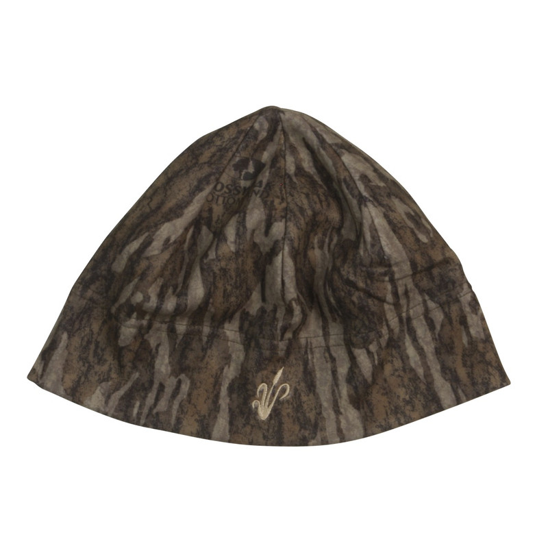 Avery Windproof Fleece Skull Cap Beanie in Mossy Oak Bottomland Color