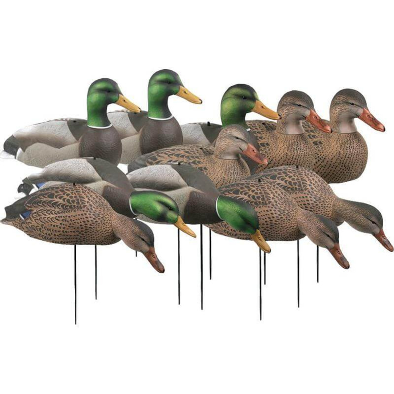 GHG Over-Size Shell Mallard Duck Decoys 12 Pack in Harvester Item Style