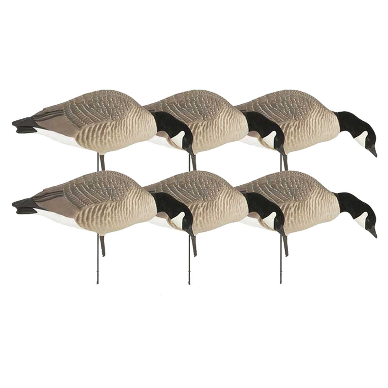 GHG Hunter Series Goose Decoys - 6 Pack in Feeder Item Style