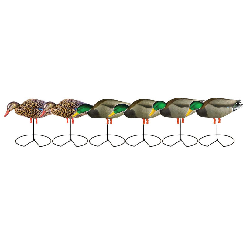 GHG Pro-Grade Full Body Mallard Duck Decoys with Flocked Heads in Feeder Item Style