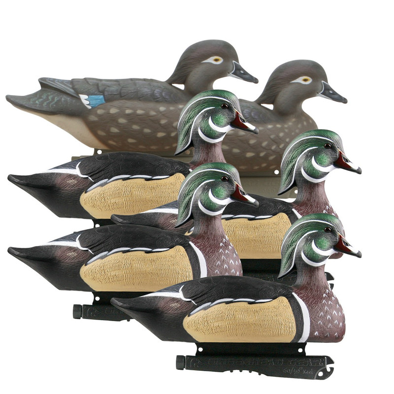 GHG Life-Size Wood Duck Decoys 6 Pack