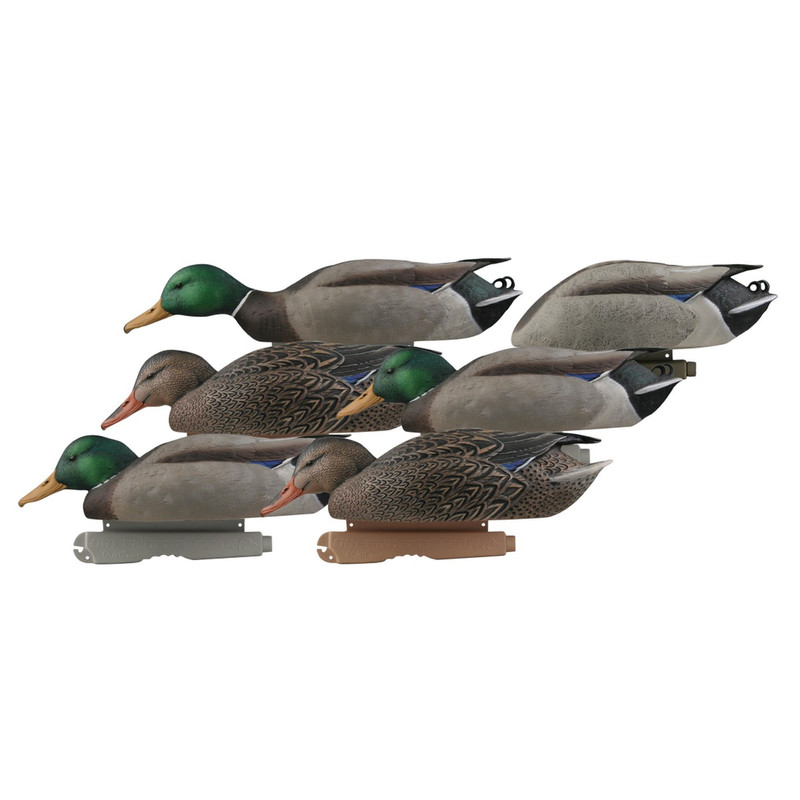 GHG Pro-Grade Mallard Duck Decoys 6 Pack in Feeder Item Style