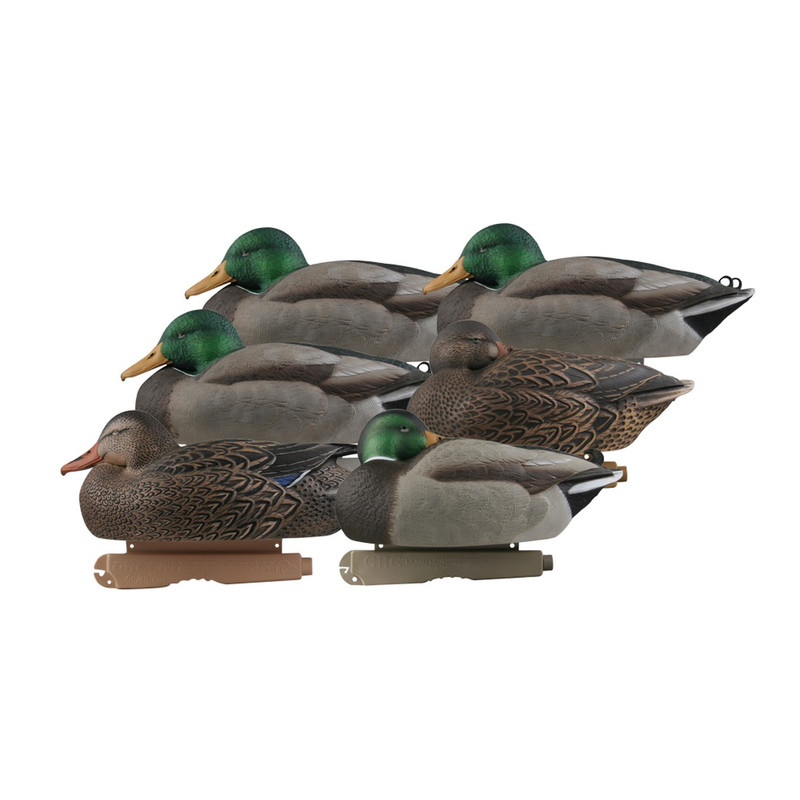 GHG Pro-Grade Mallard Duck Decoys 6 Pack in Sleeper Rester Item Style