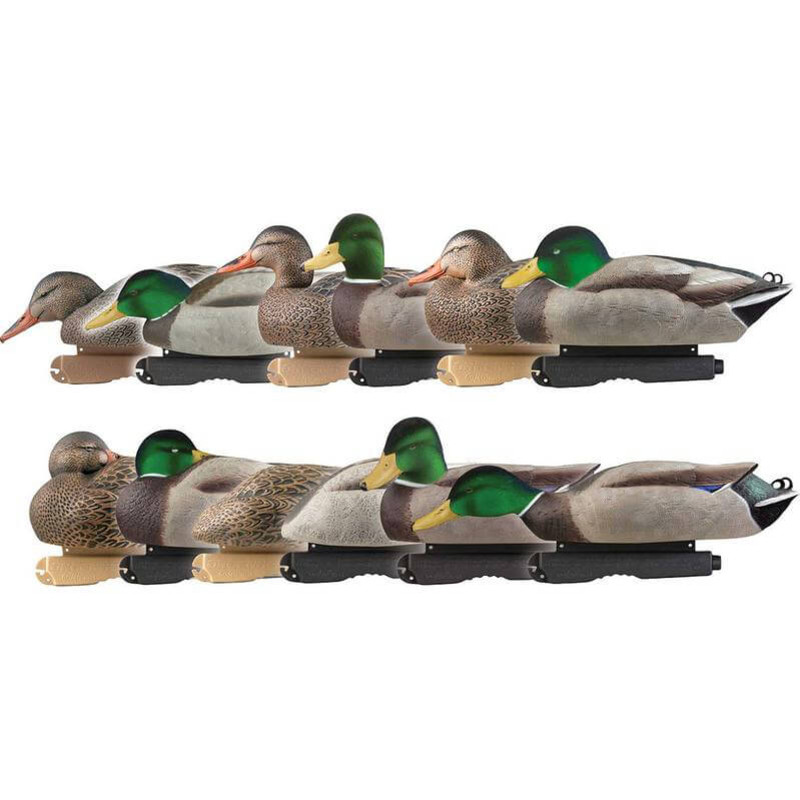 GHG Pro-Grade Harvester Pack Mallard Duck Decoys with Flocked Heads 12 Pack