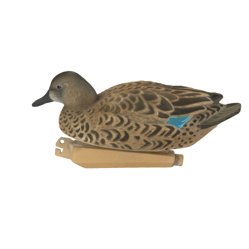 GHG Pro Grade Fully Flocked Blue-Winged Teal Duck Decoys - 6 Pack
