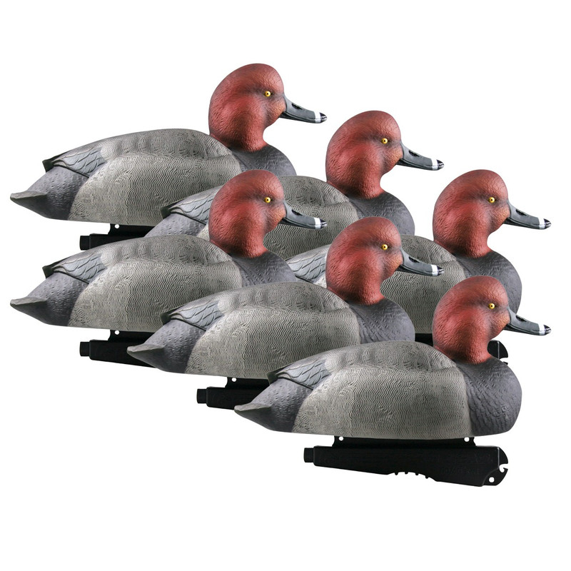 GHG Hunter Series Over Size Foam Filled Redheads Decoys - 6 Pack