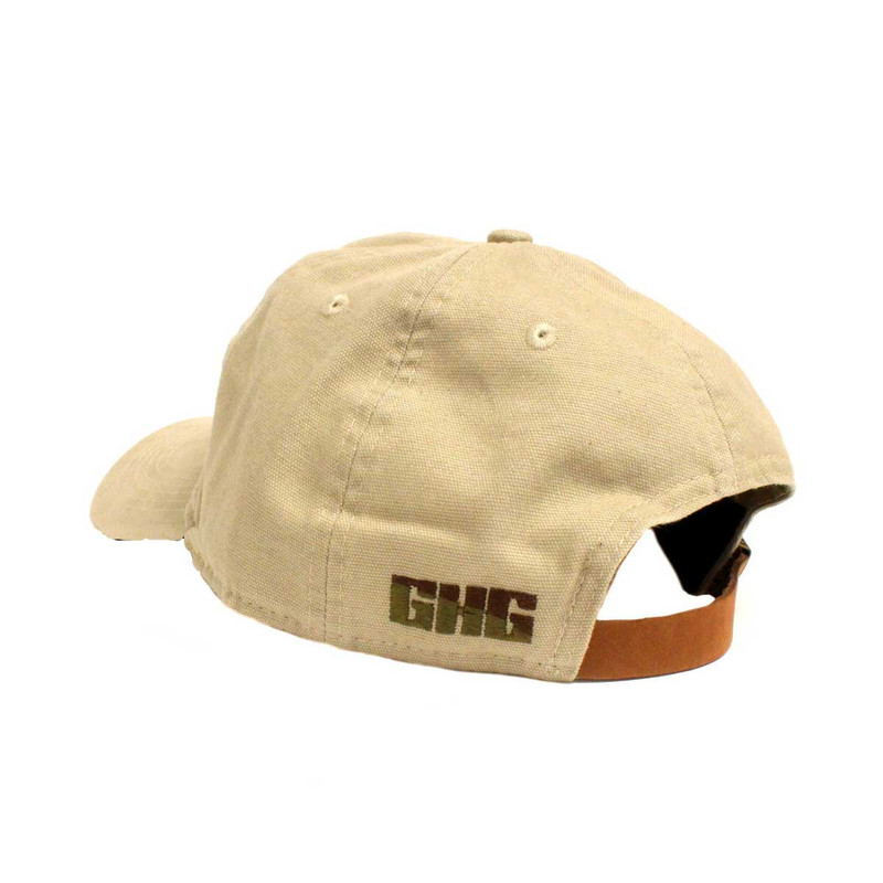 GHG Feather Collector Relaxed Cap in Khaki Color