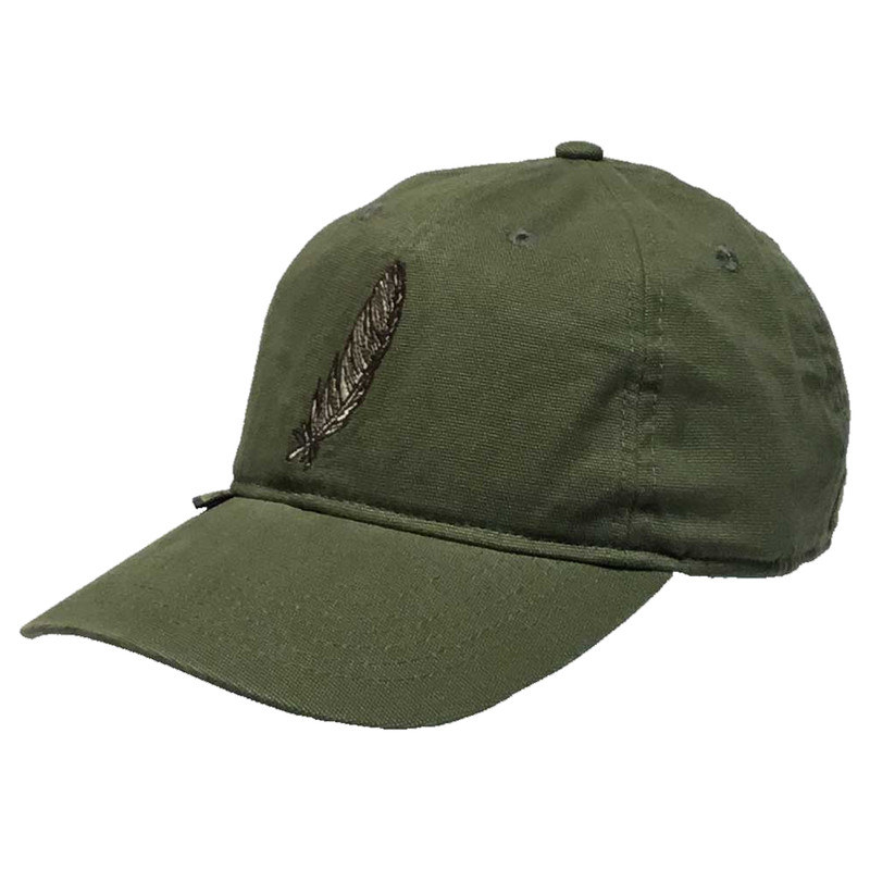 GHG Feather Collector Relaxed Cap in Olive Color