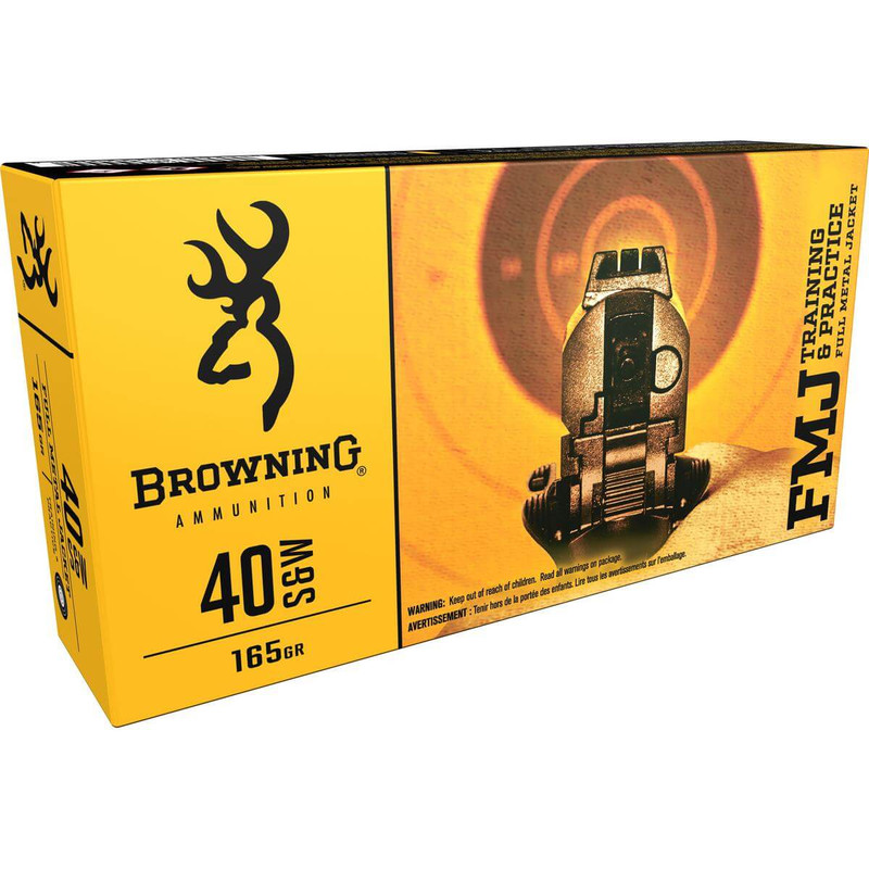 Browning Training and Practice 40 S&W 165 Grain FMJ 50 Rd