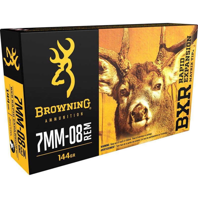 Browning 7mm-08 144 Grain BXR 20 Rd