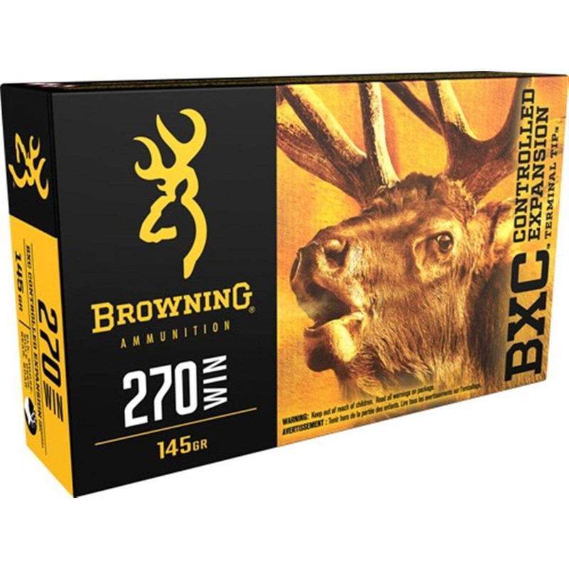 Browning 270 Wincheter 145 Grain BXC Big Game 20 Rd