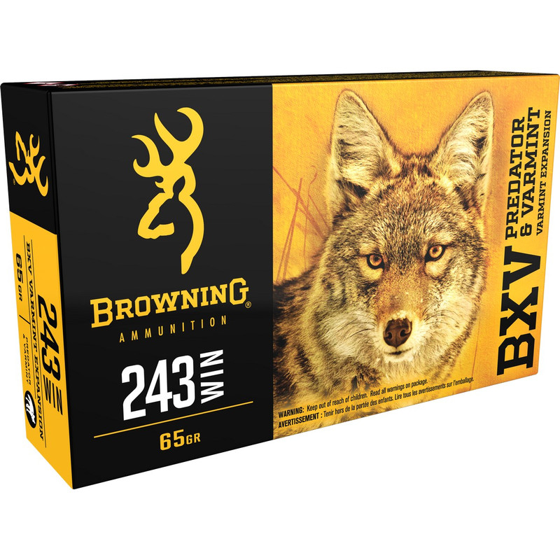 Browning B192302431 243 Win 65 Grain BXV