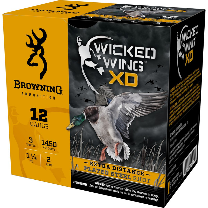 "Browning BXD Waterfowl 12Ga 3"" 1-1/4 Oz - Case in Shot Size 2 Ammo Size"