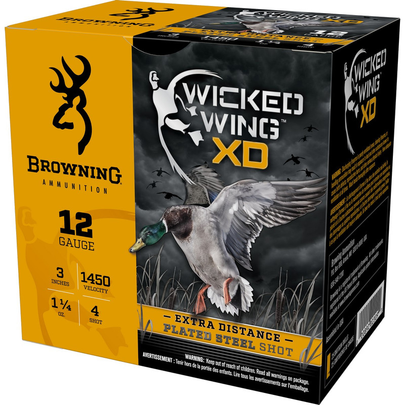 "Browning BXD Waterfowl 12Ga 3"" 1-1/4 Oz - Case in Shot Size 4 Ammo Size"