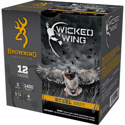 "Browning Wicked Wing 12 Gauge 3"" 1-1/4 Oz - Case"