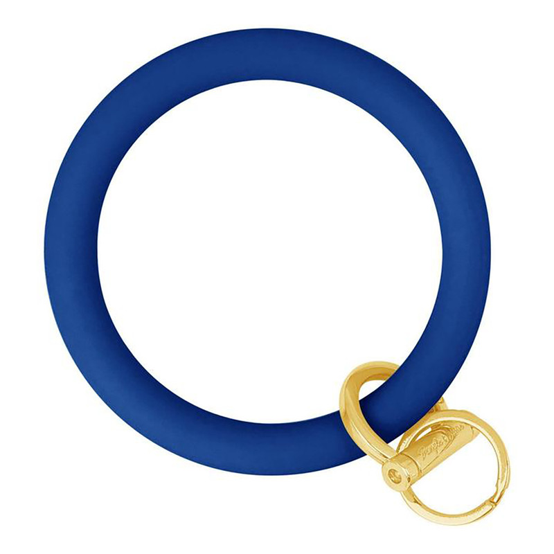 Bangle & Babe Bangle Bracelet Key Ring w/Gold Clasp in Indigo Blue