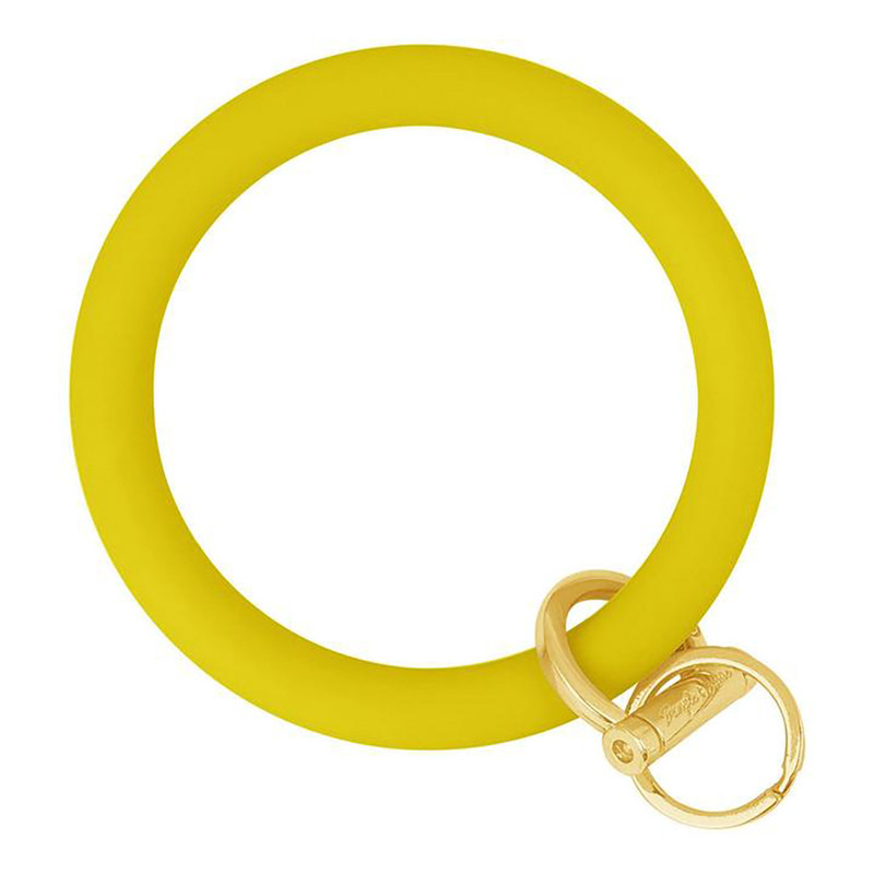 Bangle & Babe Bangle Bracelet Key Ring w/Gold Clasp in Yellow Color
