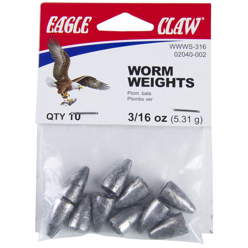 Eagle Claw Worm Weight Sinker