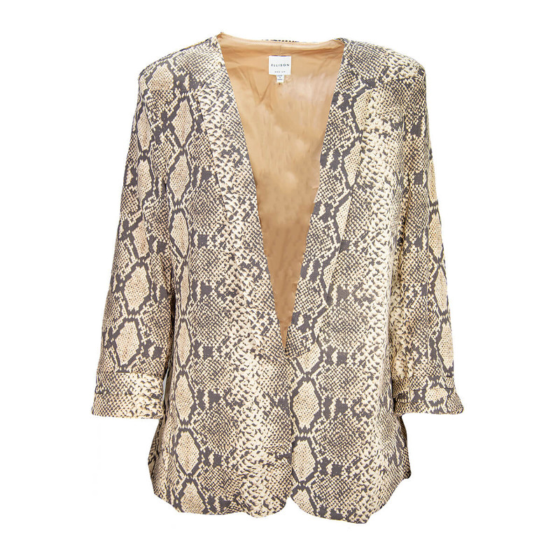 Ellison Snake Blazer in Brown Color