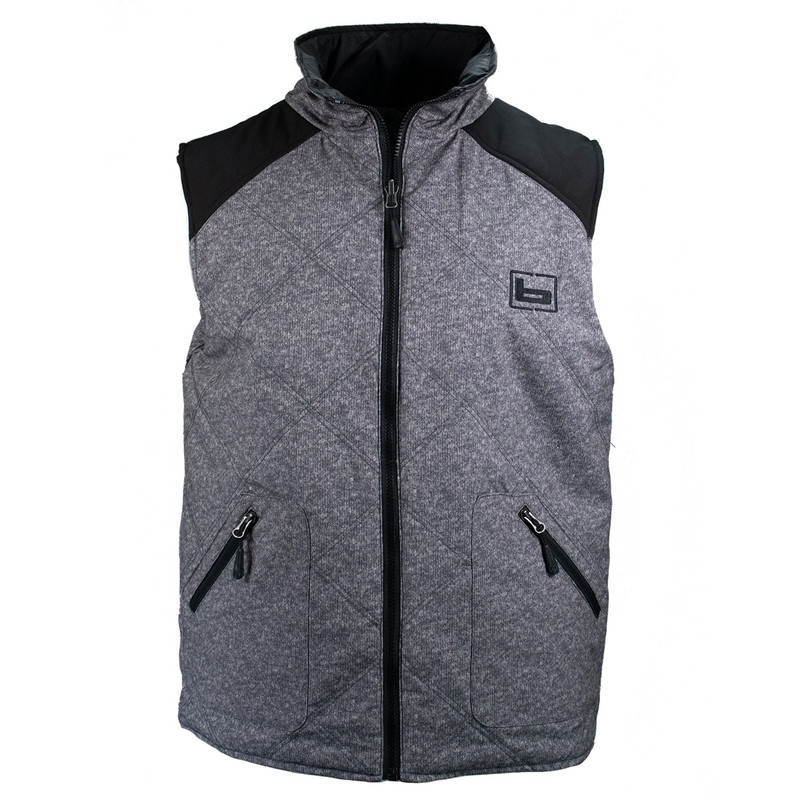 Banded Reversible Sweater Vest in Black Color