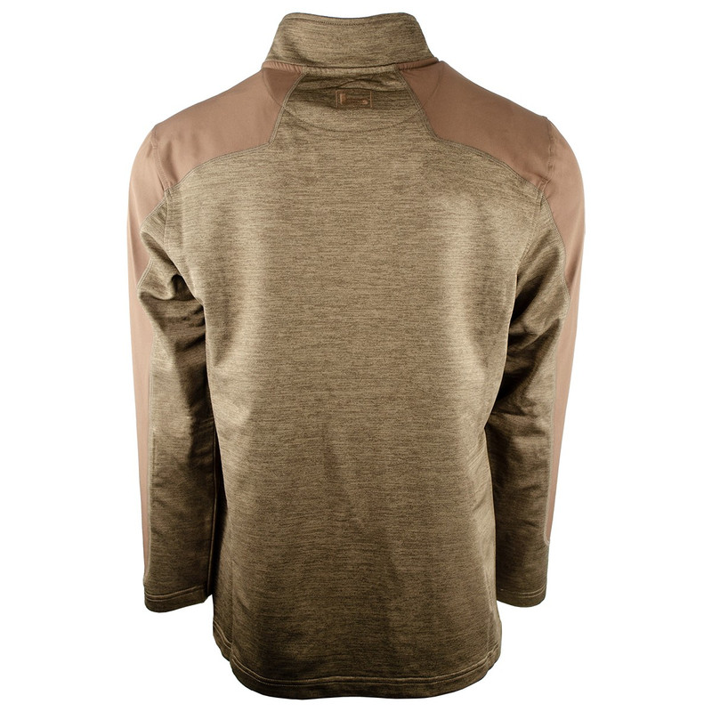 Banded Weekender Performance Quarter Zip Pullover in Brown Color