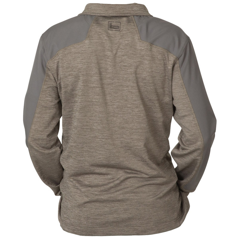 Banded Weekender Performance Quarter Zip Pullover in Charcoal Color