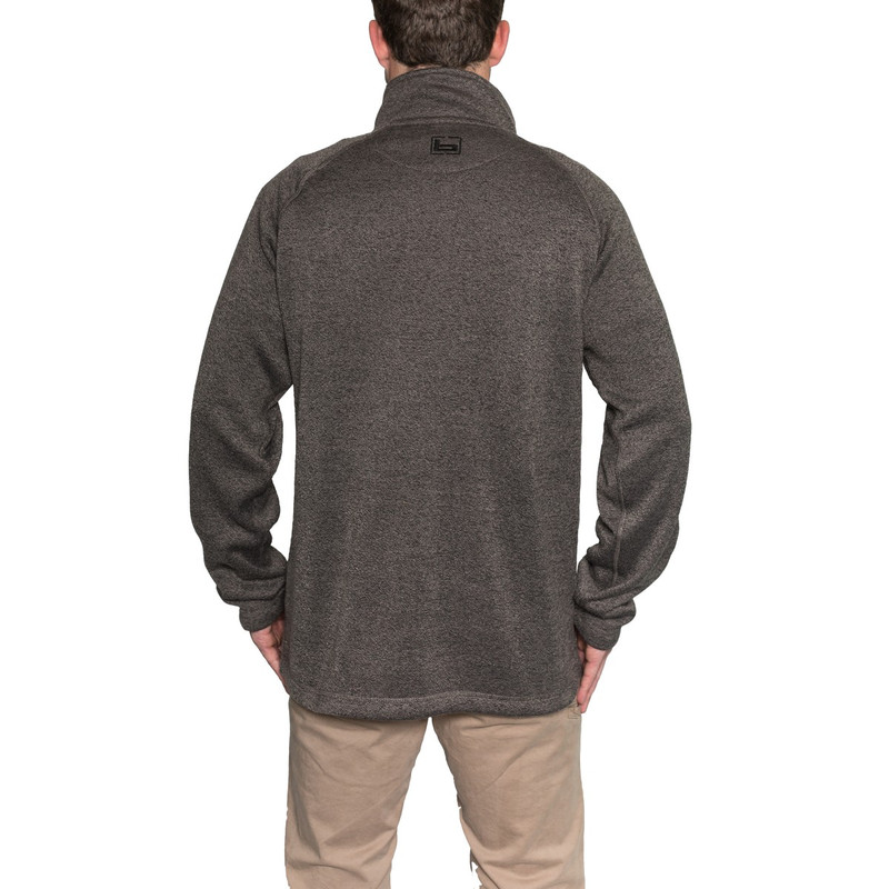 Banded Southern Pines Quarter Zip Pullover in Charcoal