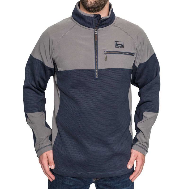 Banded Southern Pines Quarter Zip Pullover in Midnight Color