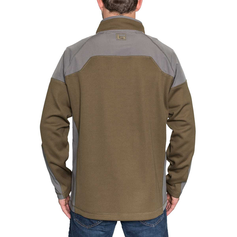Banded Southern Pines Quarter Zip Pullover in Spanish Moss Color